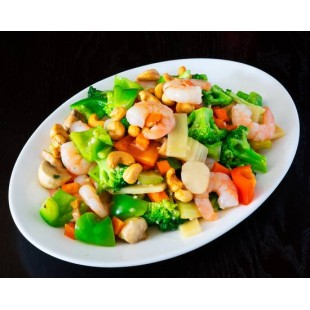 35. Sauteed Shrimps with Cashew Nuts